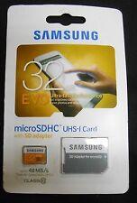 Samsung 32 GB Evo MicroSDHC UHS-I Card With SD Adapter