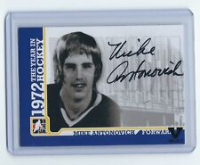 15-016 ITG Final Vault 09-10 1972 the Year in Hockey Mike Antonovich Auto Card