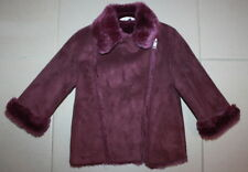 Jack and Milly girl winter jacket berry/beet root size 2 USED