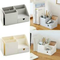 Desk Organizer Storage Holder Desktop Pencil Pen Sundries Badge Box  Supplies