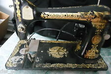 1924 Vintage Collectible Heavy Duty Singer Electric Sewing Machine AA015910