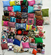 Miniature Dollhouse 75+ Pillows 1:12 scale mixed patterns clearance sale