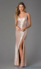 David's Bridal Size 13 Prom/Bridesmaid dress Nude and silver SPARKLES
