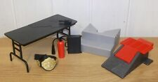 Set of WWE accessories inc. breakable table & ring steps