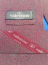 Vintage VALENTINO Crepe de Chine Silk Tie H.M. I. Italy
