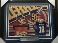 Autographed/Signed PEYTON MANNING FRAMED Indy Colts 16x20 Photo Steiner COA