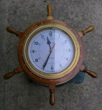 New listing Nautical ship's wheel clock wall decor. Large 18 inch, See New Lowered Price!
