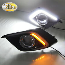 Sncn LED daytime running light DRL Fog lamp for Mazda3 Mazda 3 Axela 2013-2015