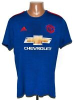 MANCHESTER UNITED 2016/2017 AWAY FOOTBALL SHIRT JERSEY ADIDAS SIZE L ADULT