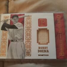 2016 Panini National Treasures Honored And Privileged Bobby Doerr 2/10