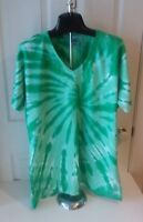 Port and Company TIE DYE Womens V-Neck Short Sleeve TEES - Brand New Shirts