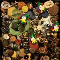 Antique Vintage Buttons Lot Mixed Colors Designs Bakelite Crest Lion 2+ LBS