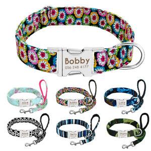 Fashion Personalized Dog Collar and Leash set Custom Pet ID Nameplate Adjustable