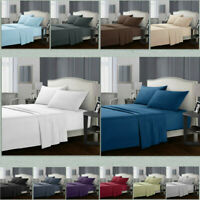 Egyptian Comfort 1800 Count 4 Piece Deep Pocket Bed Sheet Set King Queen Size H