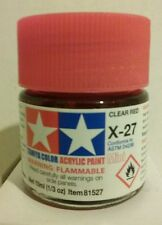 Tamiya acrylic paint X-27 Clear red. 10ml Mini.