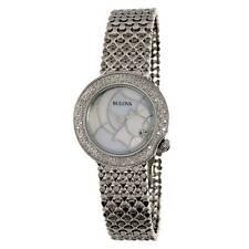 Bulova 96R209 Women's Diamond MOP Dial Studded Bracelet Watch