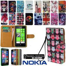 Flip Wallet Leather Stand Magnetic Case Cover For Various Nokia Phones + Strap