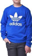 Adidas Originales Chicos Crew sudadera juvenil Junior Polar Top-S96073-Azul