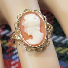 9 ct GOLD second hand cameo ring