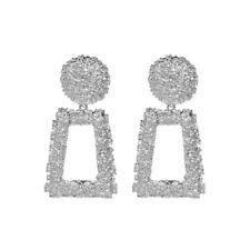 1Pair Women Crystal Earrings Geometric Square Hoop Dangle Eardrop Jewelry Gift