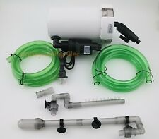 30 Gal External Fish Tank Canister Filter Table Top Aquarium & Water Pump 105GPH