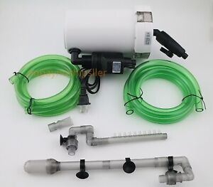 30 Gal External Fish Tank Canister Filter Table Top Aquarium & Water Pump 105GPH