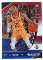 2020-21 Panini Prizm Draft Picks Rookie RC SP RWB Tyrese Haliburton #50 Kings