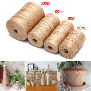 DIY Craft_Decor Natural Hemp Linen Cord Twisted Burlap Jute Twine Rope String