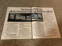 Vintage APPLE MACINTOSH CLASSIC LC MACINTOSH IIsi PC Computer 1990 Print Ad RARE