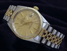 Rolex 2Tone 18K Gold/Stainless Steel Datejust Jubilee w/Anniversary Dial 16013