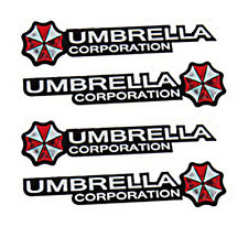 Resident Evil Umbrella Car Stickers PET Graphic Zombie Car Decal Motor Emblem 4*