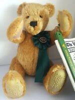 HERMANN Mohair Limited Centennial Teddy Bear Holding Washington Post Newspaper