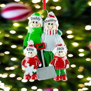Personalised Family Christmas Tree Decoration - The Shovel Family 2 3 4 5 6