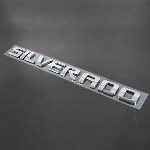 Chrome Chevy Silverado Fender Tailgate Logo Nameplates Letter 3D Decal Emblem