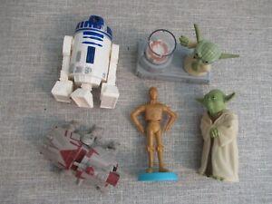 Clone Wars Star Wars Disney figure toy playset bundle Yoda C3PO At-te walker F