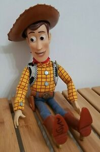 "VTG Disney Store Exclusive Toy Story Movie Plush Cowboy Woody ~15"" Talking Doll"