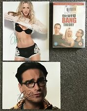 "THE BIG BANG THEORY DVD,K.CUOCO,J.GALECKI 8"" x 10"" GENUINE HAND SIGNED PHOTO,COA"