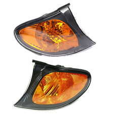 Pair Left & Right Turn Signal Corner Light Amber Lens for BMW 3 Series E46 02-05