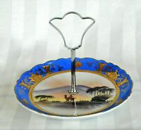 Antique Imported Gold Encrusted Hand Painted Camel Desert Porcelain Tidbit Tray