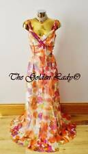 BNWT MONSOON PENELOPE AUTUMN FLORAL PRINT SILK MAXI EVENING DRESS SIZE 12,Eu40,
