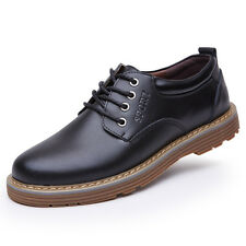 Mens Casual Oxfords Leather shoes Business England Dress Formal Party Prom Flats