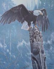 Richard Luce, TOTEM, Bald Eagle on Totem Pole, S/N Print