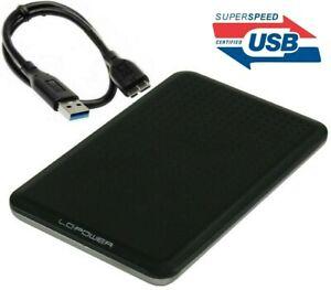 2TB Externe SSD Portable 6,3cm (2,5 Zoll) USB 3.0, LED Anzeige, Schwarz-Alu
