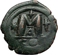 JUSTIANIAN I the GREAT 527AD Constantinople Follis Ancient Byzantine Coin i69840