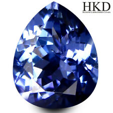 1.26 ct Tanzanite / Tansanit HKD Certified Pear Shape (8x6 mm) Bluish Violet AAA