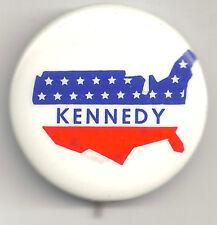 Kennedy Pin  w/ USA Map Stars & Stripes Pinback Button