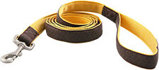 Brown and Gold Faux Leather Leash - Closeout