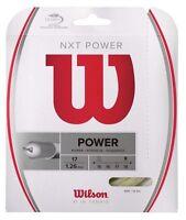 Wilson - WRZ941700 - NXT POWER Gauge 17 Tennis Raquet String - Natural Color