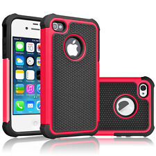 Shock proof Rubber Matte Hard Case Cover For Apple iPhone 4 4S Screen Protector