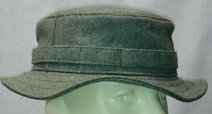 RECCE Hat Boonie    WH - fieldgrey / feldgrau  wool     - Made in Germany -